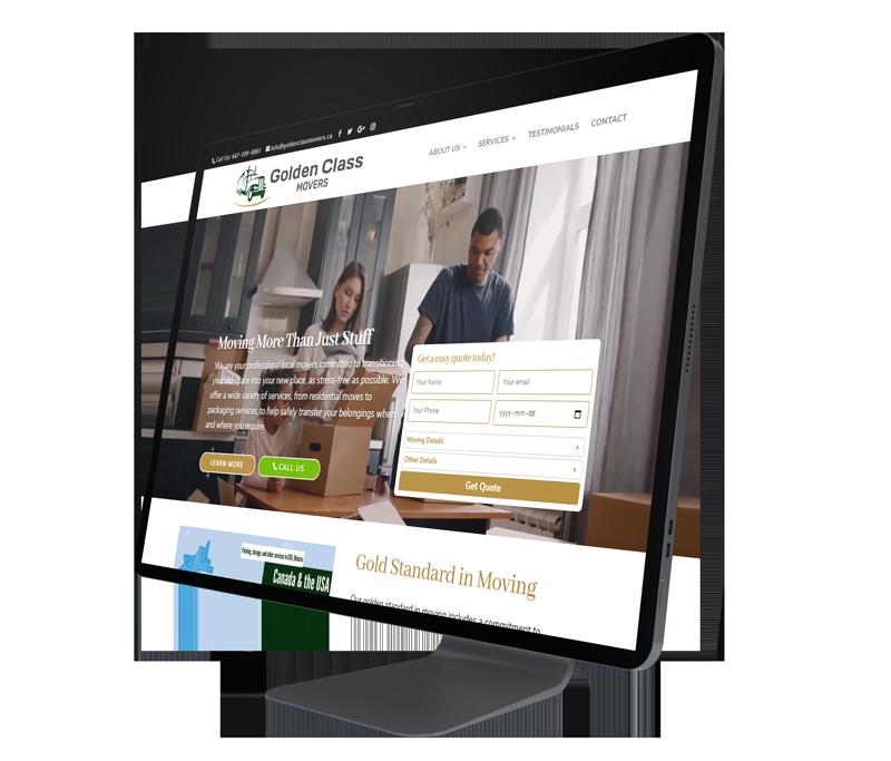 Golden Class Movers Website