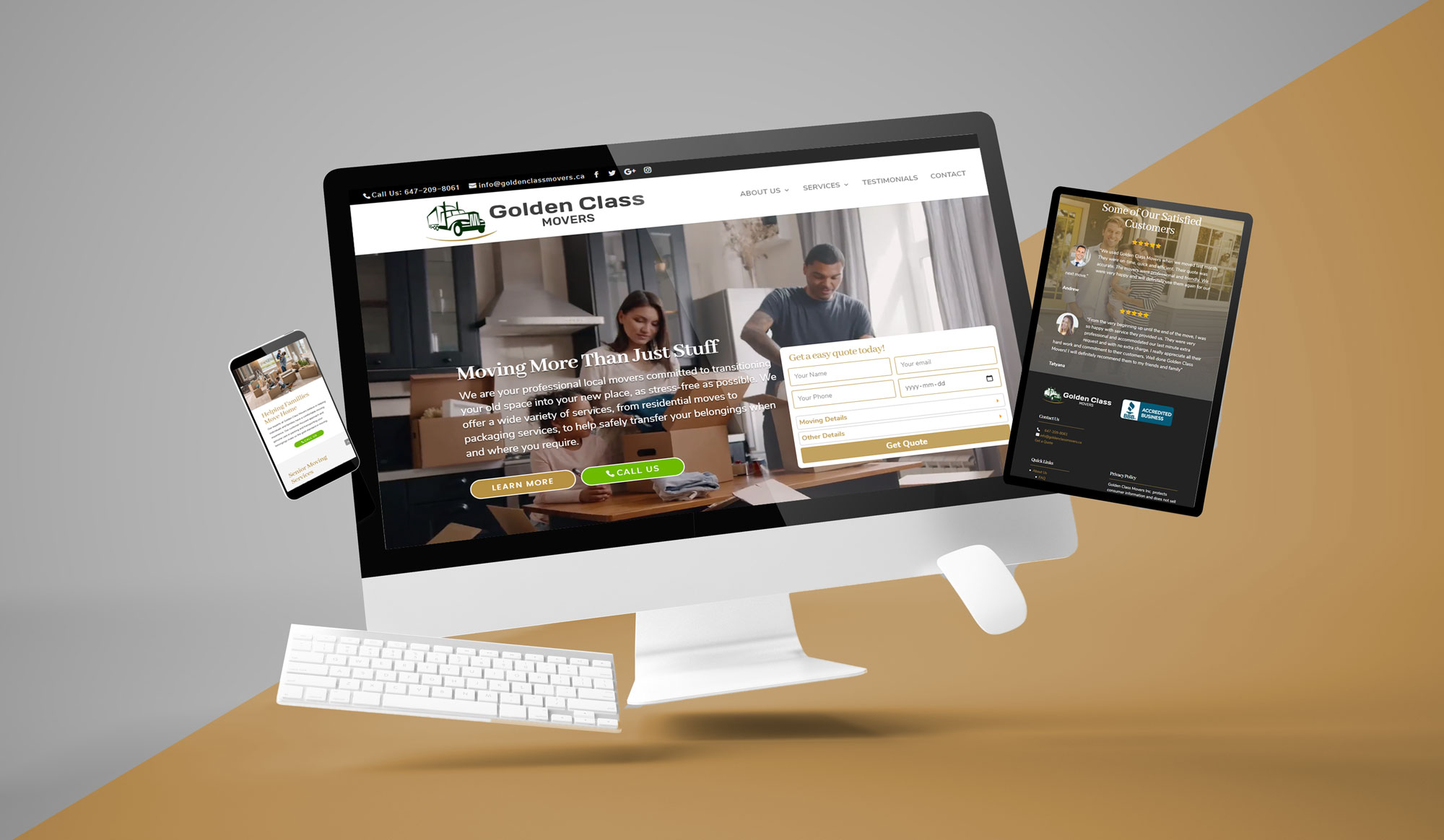 Responsive Web Design GoldenClassMovers
