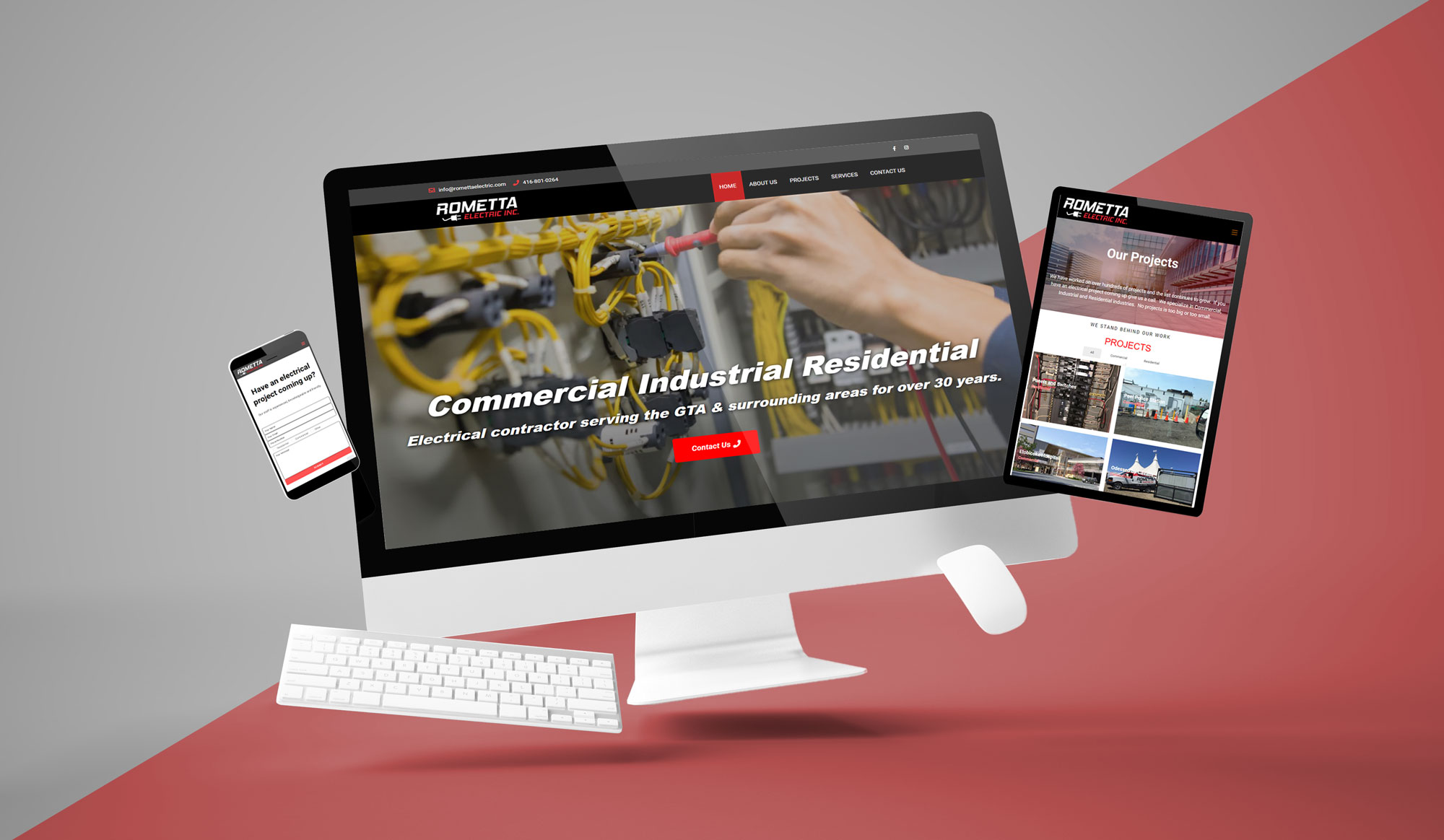 Commercial Industrial Website Design and Development Rometta Electric